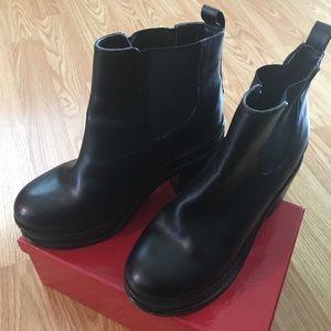 ASOS Platform Ankle Bootie Faux Leather Size 9